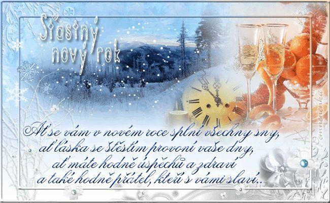 Nový rok přání - Obrázková přání