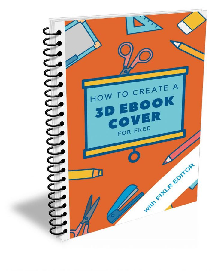 How To Create a Free 3D Ebook Cover with Pixlr Editor   - Gerlinde Online