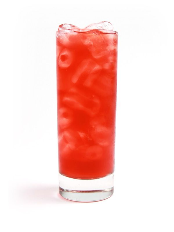Dirty Shirley - collins glass filled with ice - 1½ oz Snowfox - equal parts pomegranate juice and lemon lime soda