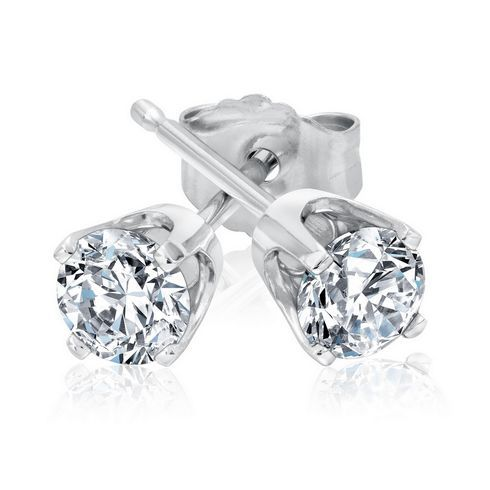 Diamond Solitaire Earrings 1/2ctw - Item 18228940 | REEDS Jewelers