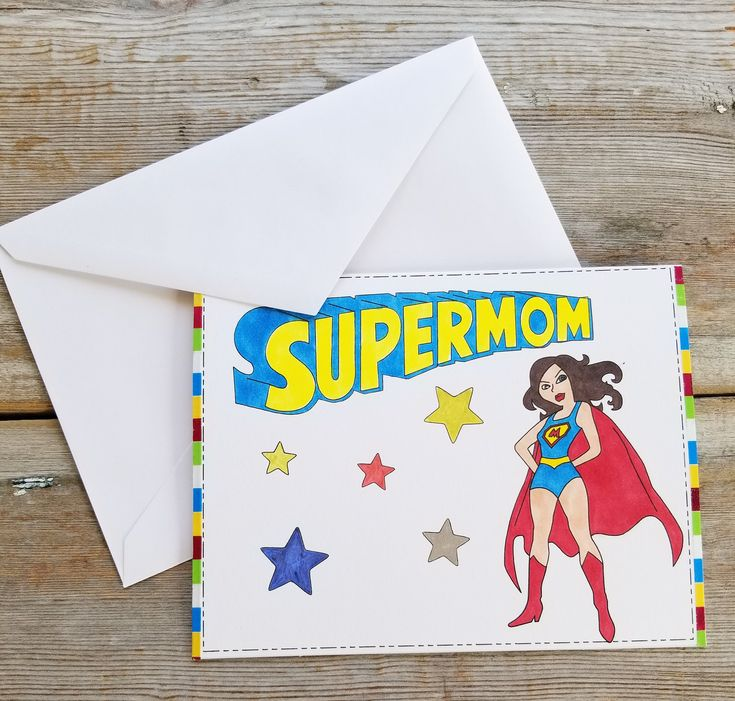 Excited to share the latest addition to my #etsy shop: Mom Card - Supermom - Super Mom Card - Funny Card for Mom - Card for Mom - Funny Mother's Day Card - Mother's Day Card - Customizable Cards http://etsy.me/2FfRISf