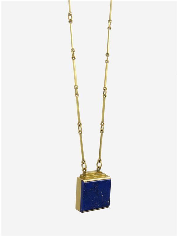 P39695* Collier WIWEN NILSSON, 18K guld, Lapis lazuli, 1940