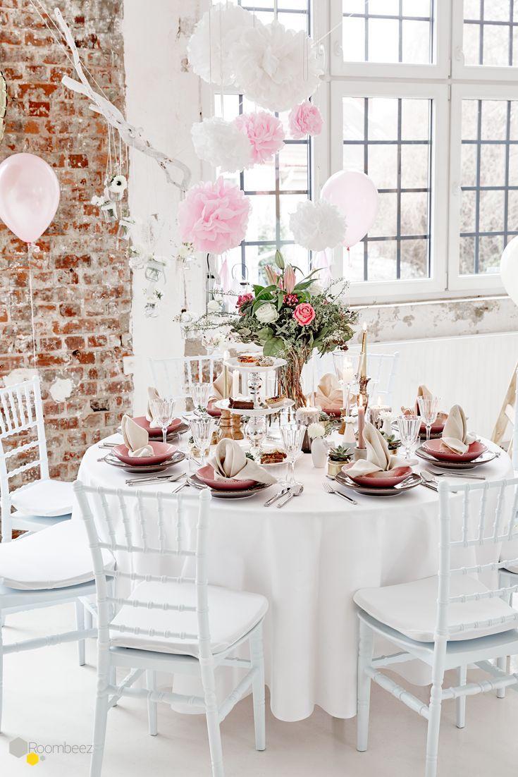 Tischdeko Zur Hochzeit Deko In Rosa Und Naturtonen Otto Tischdeko Hochzeit Hochzeit Hochzeit Deko