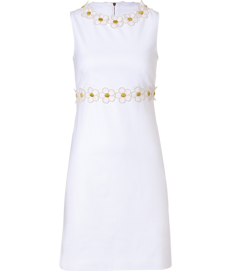 White Dress with Daisies