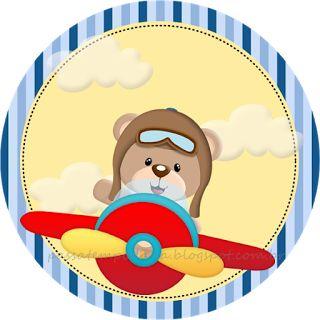 Passatempo da Ana: Kit: Ursinho Aviador