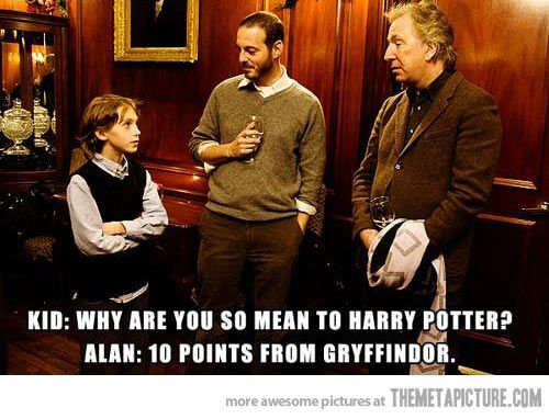 Alan Rickman is awesome…