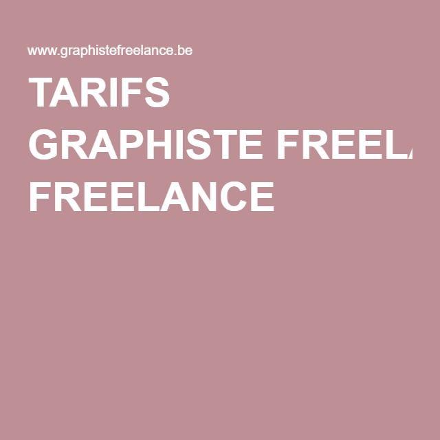 TARIFS GRAPHISTE FREELANCE