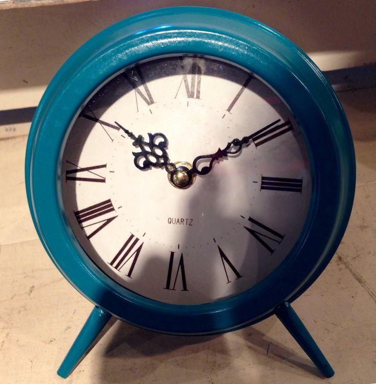 Antique Blue Desk Clock/Cracker Barrel Gift Shop