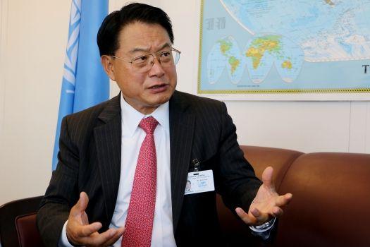 Li Yong, Director-General of the United Nations Industrial Development Organization (UNIDO). Photo: Africa Renewal/Eleni Mourdoukoutas