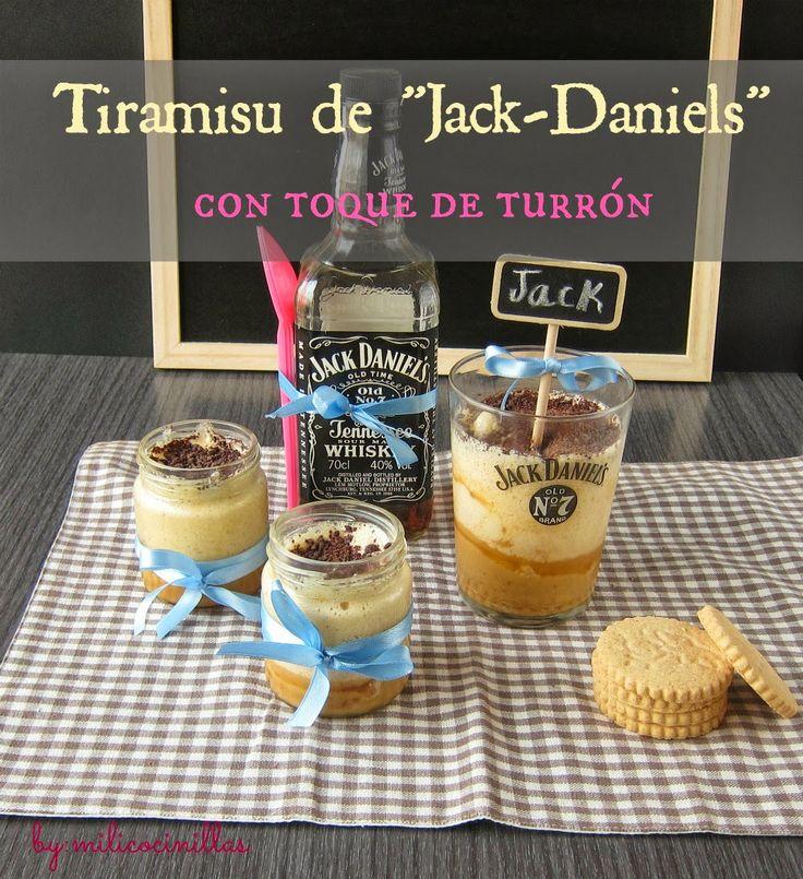 Tu blog me sabe a Tiramisú expres a lo Jack -Daniels con toque de turrón Sin Lactosa