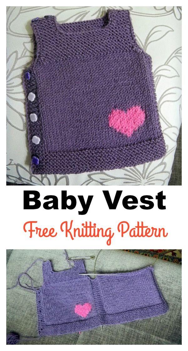 Adorable Baby Vest Free Knitting Pattern | Knitting | Pinterest ...