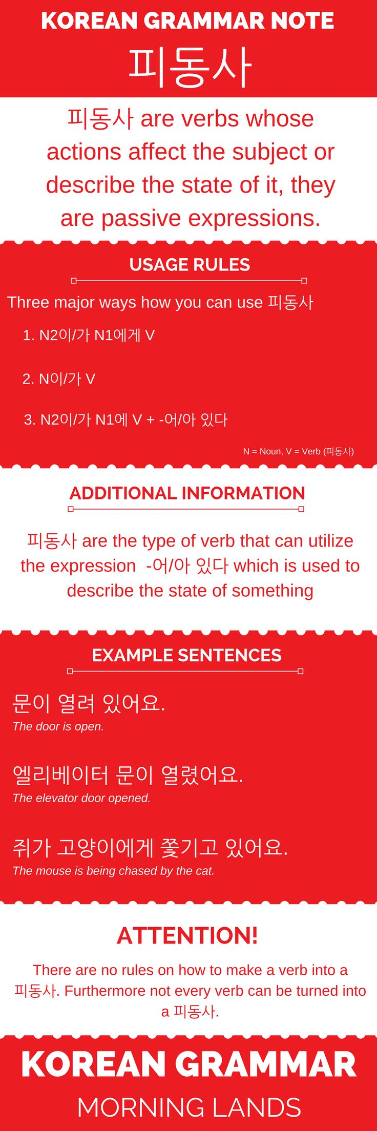 The Korean passive verbs or 피동사 are a rather confusing aspect of Korean grammar. This article will help you kickstart things passively. #LearnKorean #Korean #한국어