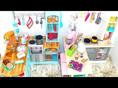Gourmet Doll Kitchen | How to make American Girl Doll Gourmet Kitchen Step-By-Step - YouTube