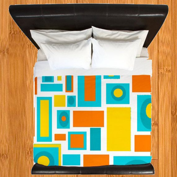 Hey, I found this really awesome Etsy listing at https://www.etsy.com/listing/213332701/modern-duvet-coverretro-duvet