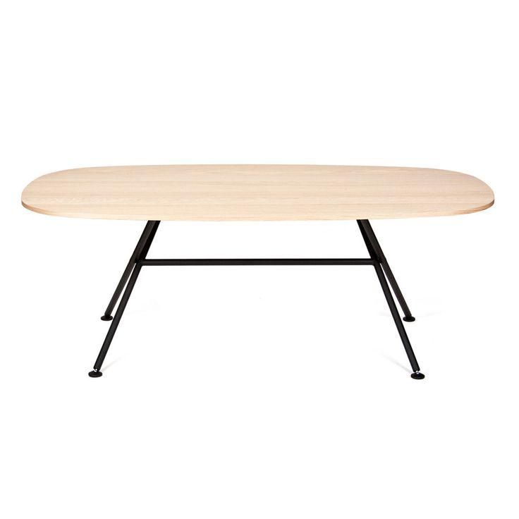 Oval Table Oak by Alain Berteau