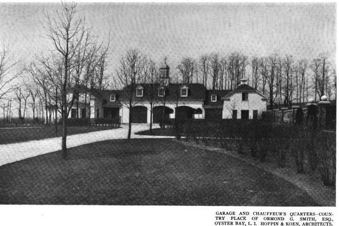 Old Long Island: Shoremond, the estate of Ormond G. Smith on Center Island, Oyster Bay, New York. Garage and Chauffeur quarters.  [Ormond+Smith+12.jpg]