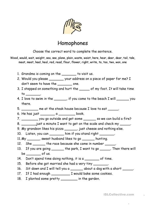 Homophones Worksheet English Esl Worksheets For Distance Learning And Physical Classrooms Homophones Worksheet Transcription And Translation Homophones