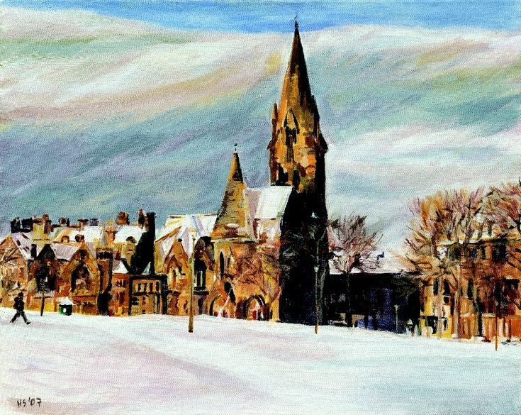 Barclay Church in Winter by Helen Smart