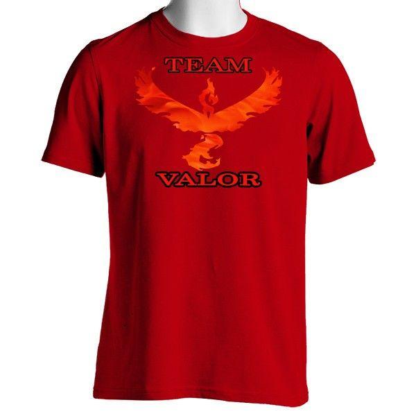 Pokemon Go Team Valor: Fire Unisex Crewneck T-Shirt