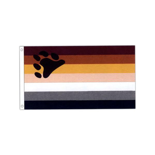 Bear Pride Motorcycle Flag