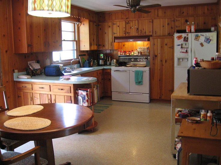 218 best images about vintage early american on pinterest 1960s kitchen home magazine and - Knotty pine cabinets makeover ...