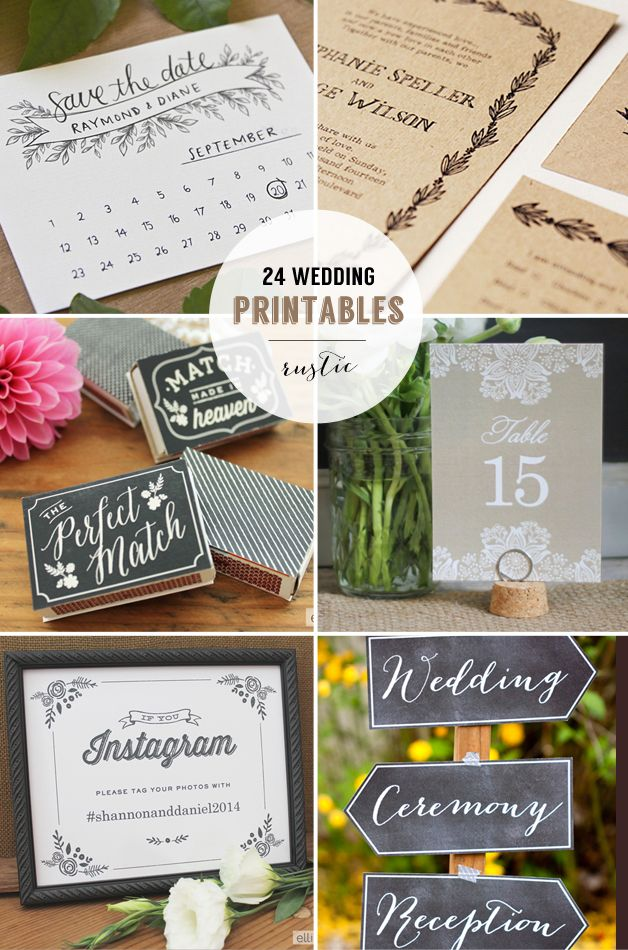 24 lovely free wedding printables | Best Day Ever