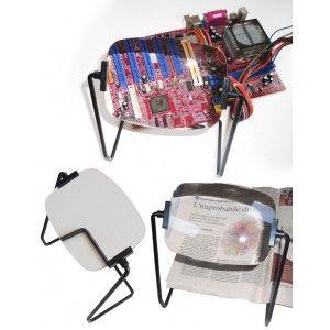 Lente 2X con supporto rotante Dimensione Lente: 110x142 mm Ingrandimento 2x Supporto in metallo