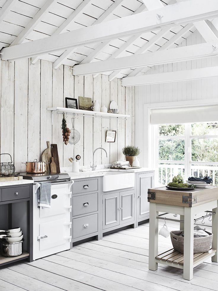 Our Suffolk chopping block is a feature in this smaller space kitchen. An…
