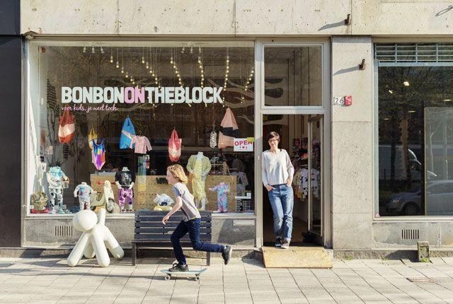Stoere kleding en schoenen voor je kroost vind je bij BonBon on the Block. Van Vans tot Stella McCartney. #Rdamshoppingstad