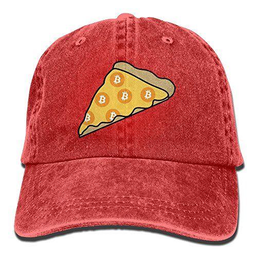 ONE-HEART HR Pizza Bitcoin Baseball Caps Denim Hats For Men Women ... 2a12246522cb