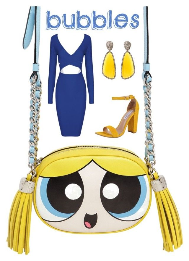 """Bubbles"" by painted1981 on Polyvore featuring Moschino, Steve Madden and Christina Debs"