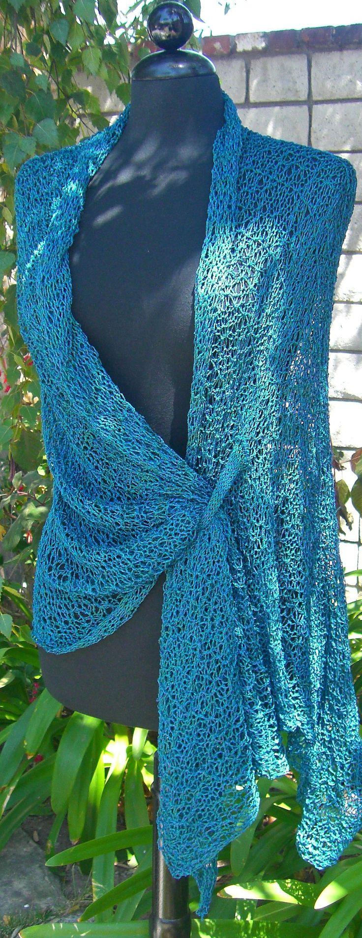 TealDrape- free bulky machine knit pattern