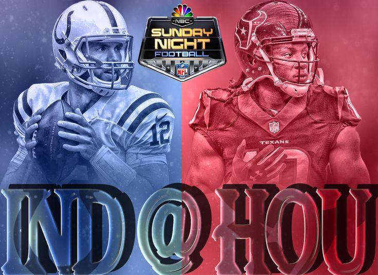 Sports Graphic Design - NFL - Indianapolis Colts vs Houston Texans