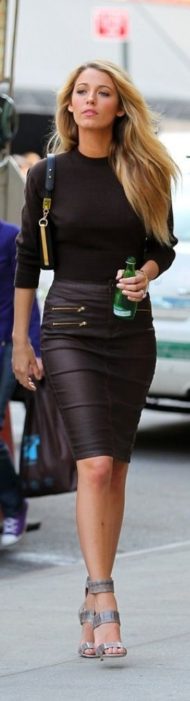 I have never owned a leather skirt.  Wonder what would it feel like to wear one…