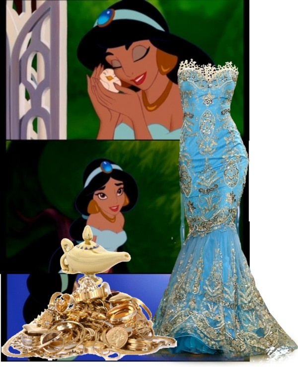 Best 20 princess jasmine wedding ideas on pinterest for Princess jasmine wedding dress
