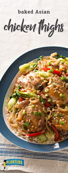 Baked Asian Chicken Thighs – Try out something new on your dinner table with this flavorful Asian-inspired chicken recipe. You'll be the star of the evening for serving up this tender dish to your family in just 45 minutes.