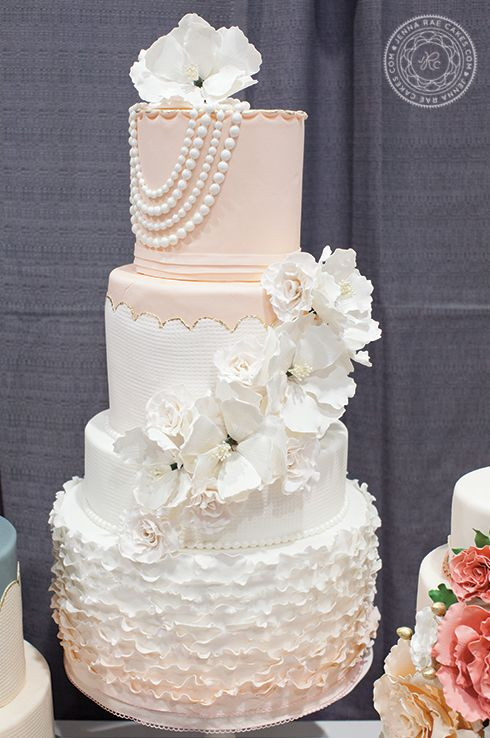 Plus 33 stunning Cake Inspiration plus explanation of cake cutting fee. To see more: http://www.modwedding.com/2014/01/27/33-wedding-cake-inspiration-plus-what-is-the-cake-cutting-fee/ #wedding #weddings #cakes