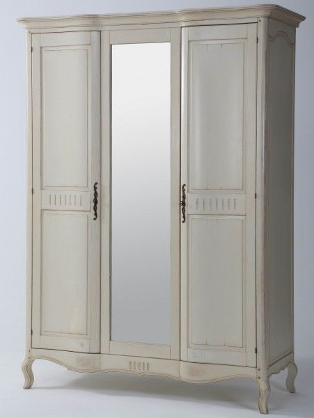 kleiderschrank vintage birke massiv antik look wei lackiert madera y carpinteria. Black Bedroom Furniture Sets. Home Design Ideas