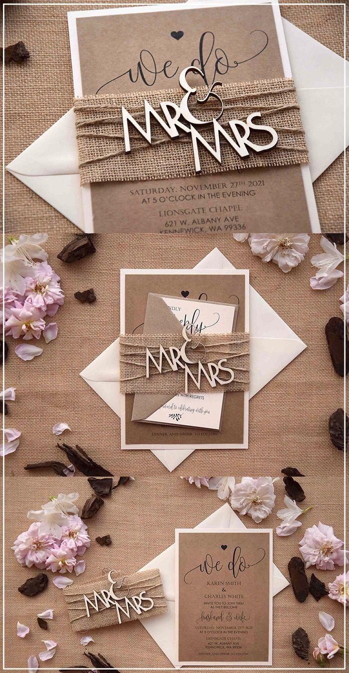Mr And Mrs Wood Wedding Invitations Wood Rustic Invitations Wood Wedding Invitations Creative Wedding Invitations Wedding Invitation Design