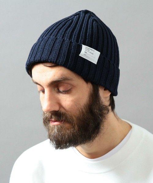 BEAUTY&YOUTH MENS(ビューティアンドユース メンズ)の<Racal> STANDARD KNIT CAP16SS/ニット帽(ニットキャップ/ビーニー)|ネイビー