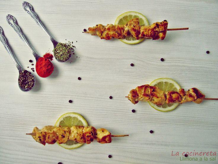 Llimona a la Sal: Pinchitos de pollo adobado