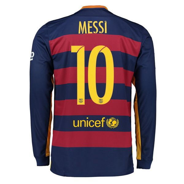 3971a085e30 Lionel Messi Authentic Home LS Soccer Jersey 15 16 Barcelona  10 ...