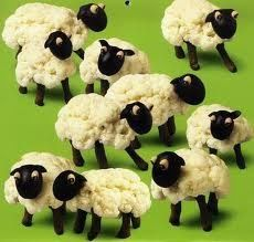 coli-flower and olive sheep's
