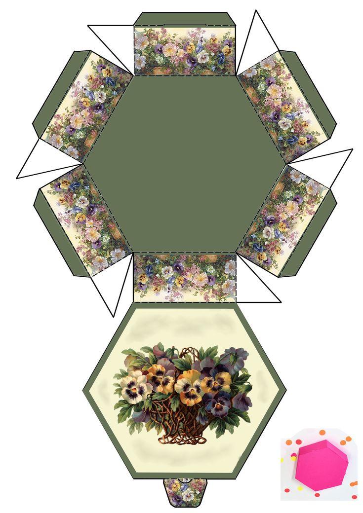 Hectagonal paper box