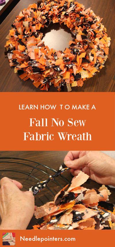 Halloween oder Herbst keinen Stoff Kranz nähen   – Wreaths