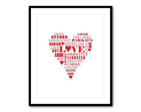 valentine day word art