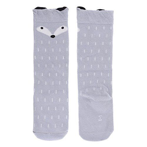 Dare Color Fox Pattern Baby Knee High Stockings Tube Socks for Girls M *** You can get additional details at the image link.