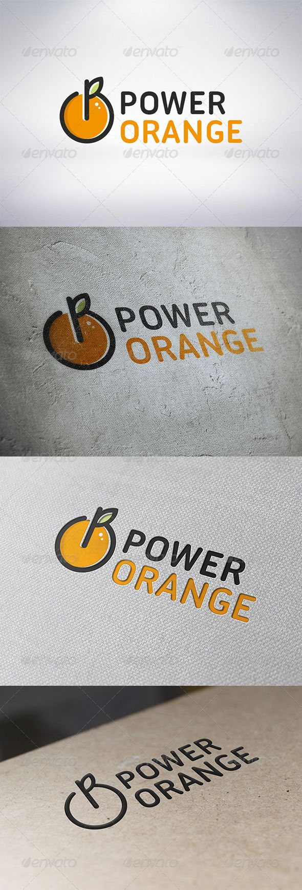 Power Orange Logo Template #GraphicRiver - Three color version: color, greyscale and single color. - The logo is 100% resizable. -