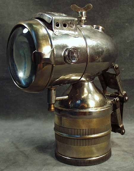 Vintage carbide bicycle lamp.