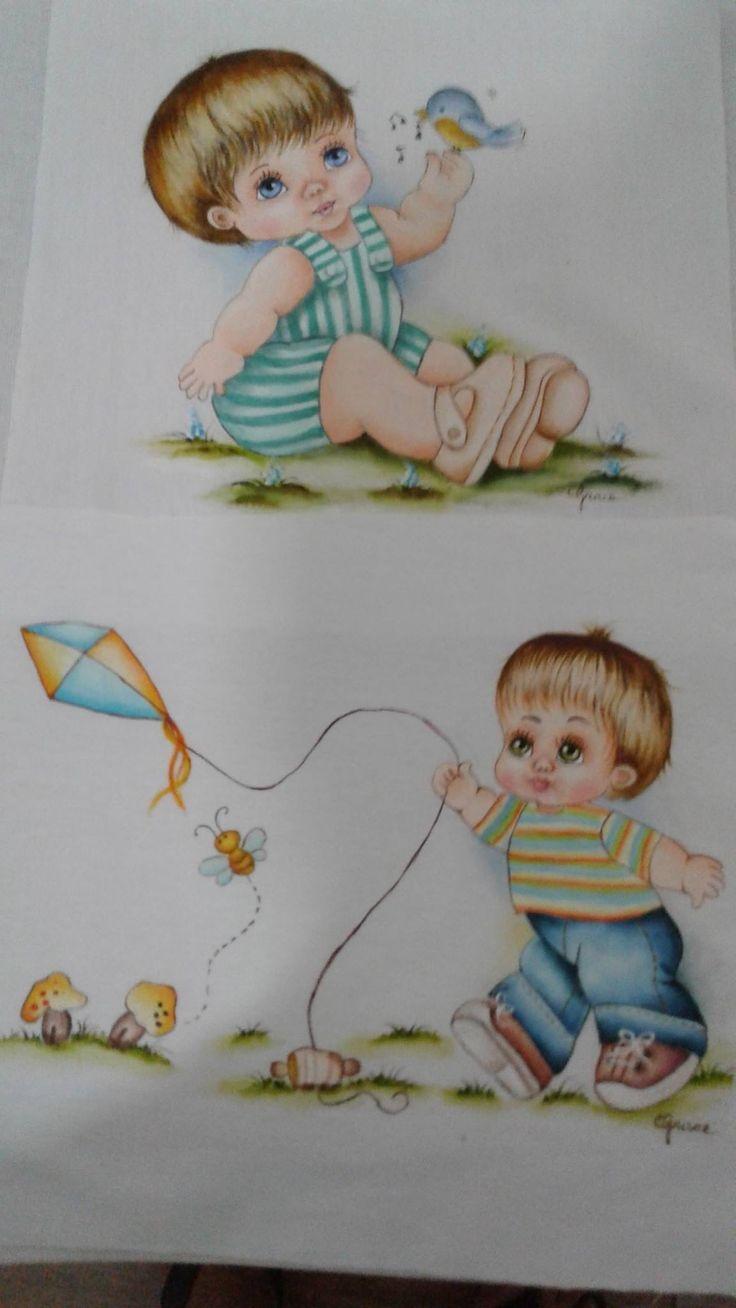 Pintura em tecido | para bebês | fraldas | enxoval